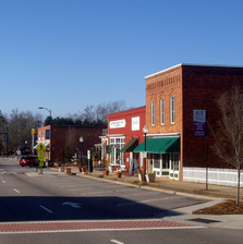 image downtown matthews north carolina small town near charlotte nc
